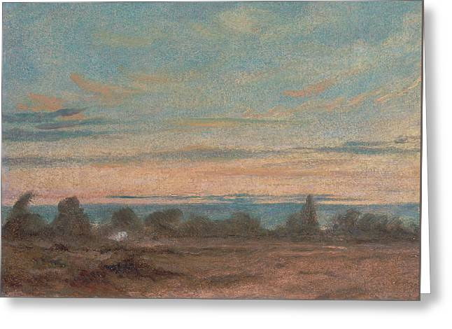Summer - Evening Landscape Greeting Card by John Constable