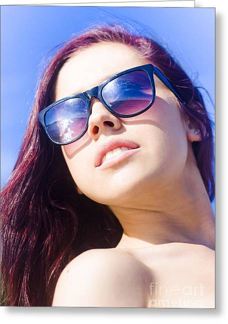 Summer Fashion Greeting Card by Jorgo Photography - Wall Art Gallery