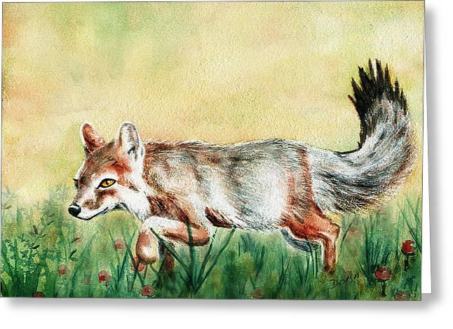 Summer Fox Greeting Card by Antony Galbraith