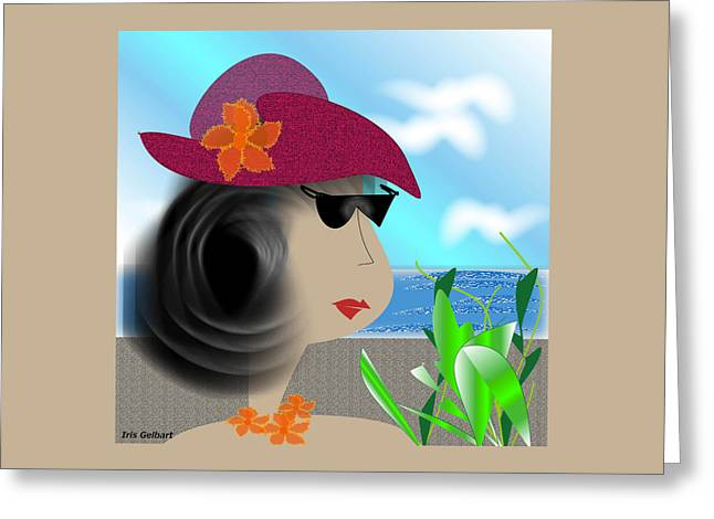 Summer,  I'm Ready Greeting Card by Iris Gelbart