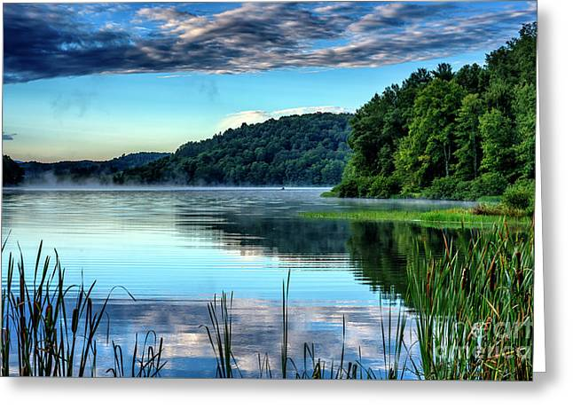 Summer Morning On The Lake Greeting Card