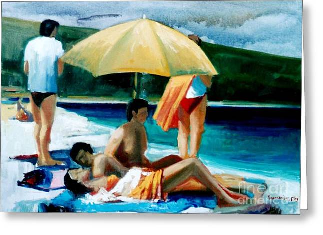 Summer Time Greeting Card by George Siaba