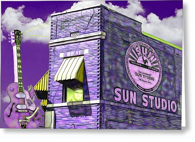 Sun Studio Collection Greeting Card by Marvin Blaine