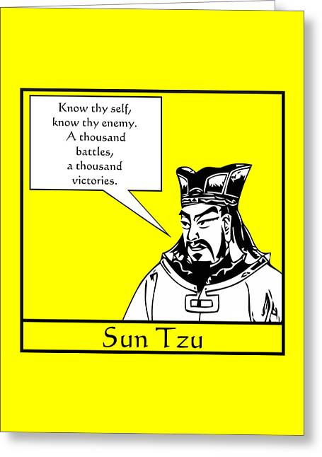 Sun Tzu Greeting Card