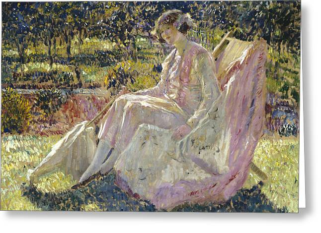 Sunbath Greeting Card by Frederick Carl Frieseke