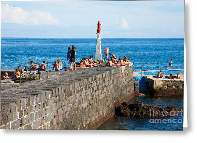 Sunbathing In Azores Greeting Card