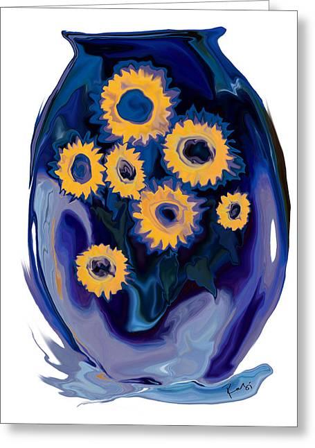 Sunflower 1 Greeting Card by Rabi Khan