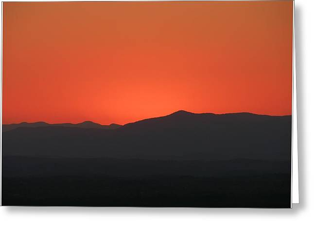 Sunglow Greeting Card by John Geck