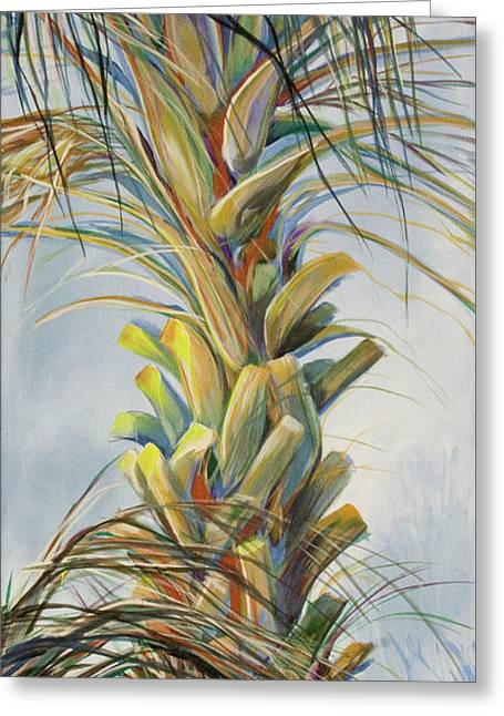 Sunlit Palm Greeting Card by Michele Hollister - for Nancy Asbell