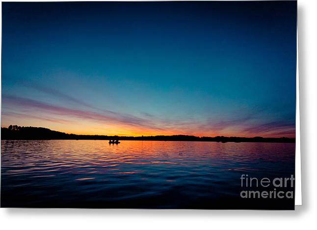 Greeting Card featuring the photograph Sunrise Above Lake Water Summer Time Latvia Ezera Skanas by Raimond Klavins