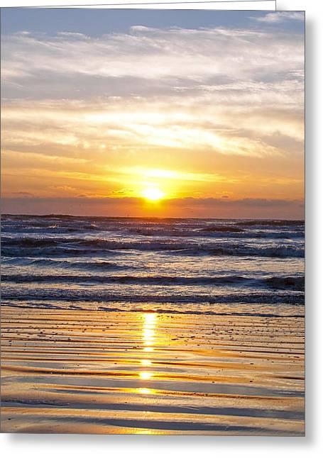 Sunrise At Beach Greeting Card