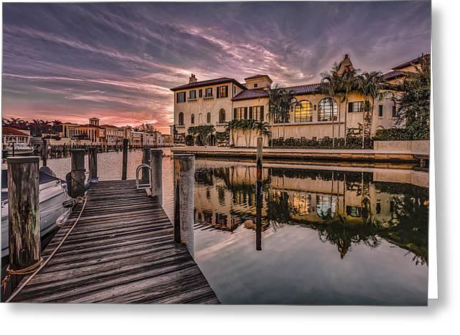 Sunrise At Naples, Florida Greeting Card
