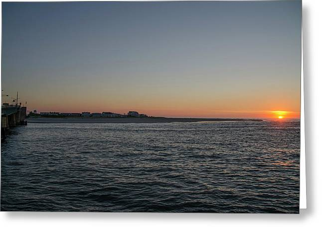 Sunrise At Townsends Inlet Greeting Card by Bill Cannon