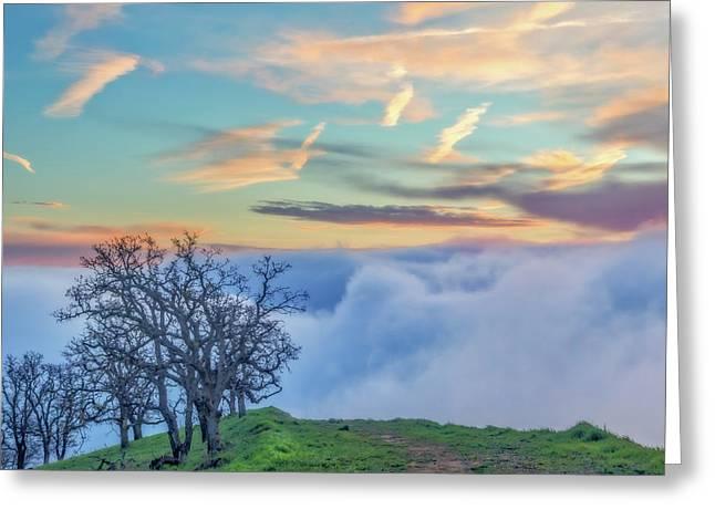 Sunrise Hike At Los Vaqueros Greeting Card