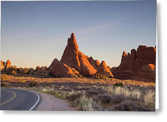 Sunrise In Arches National Park Greeting Card