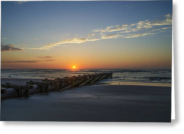 Sunrise In Avalon New Jersey Greeting Card by Bill Cannon
