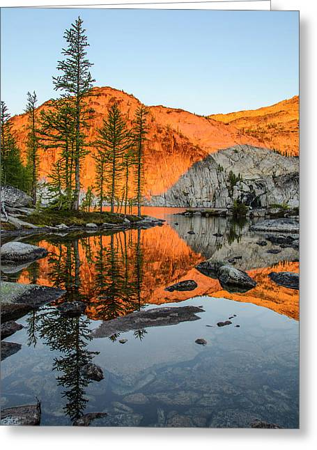Sunrise In The Enchantments Greeting Card