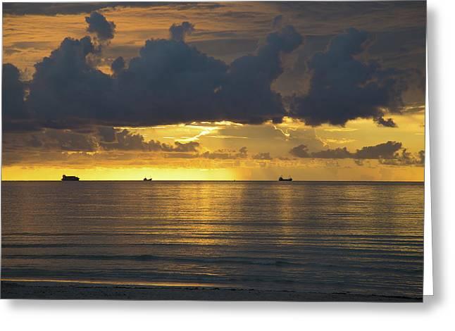 Sunrise Miami Beach Greeting Card