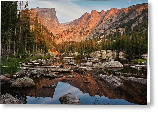 Dream Lake Sunrise Greeting Card