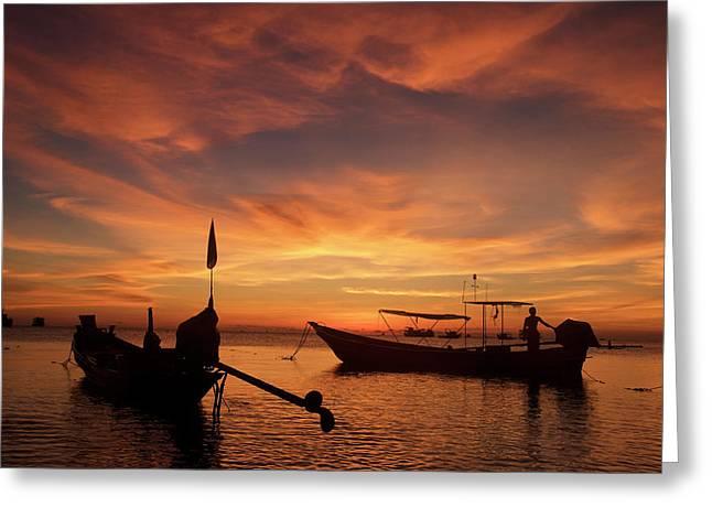 Sunrise On Koh Tao Island In Thailand Greeting Card