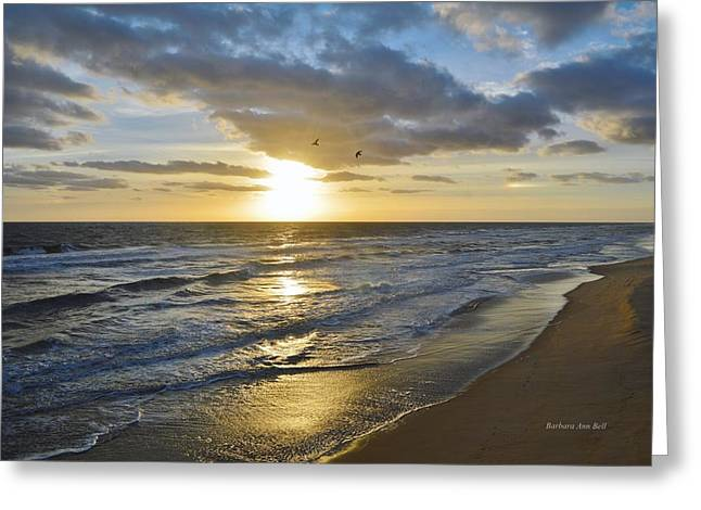 Sunrise On The Banks  Greeting Card