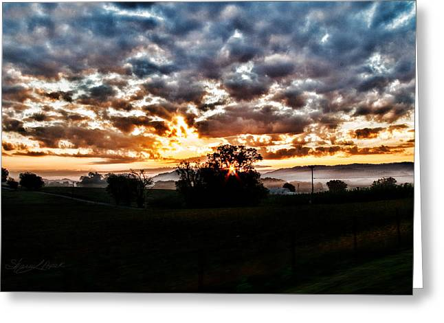 Sunrise Over Fields Greeting Card
