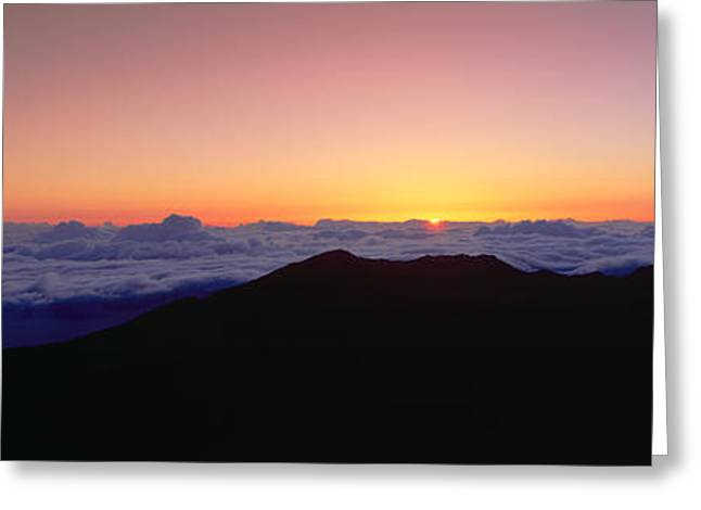 Sunrise Over Haleakala Volcano Summit Greeting Card by Panoramic Images
