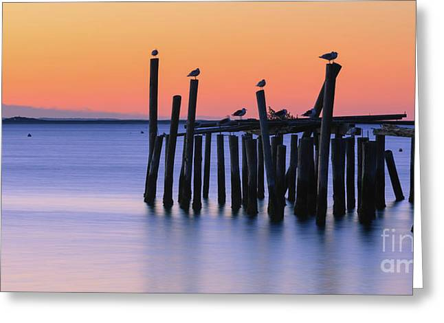 Sunrise Provincetown - Cape Cod - Massachusetts Greeting Card by Henk Meijer Photography
