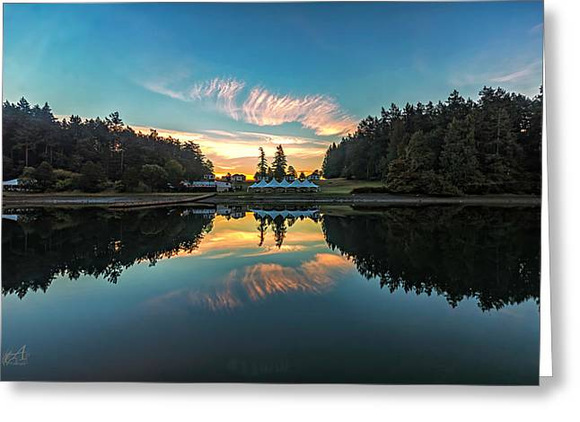 Sunrise Reflection Greeting Card by Thomas Ashcraft