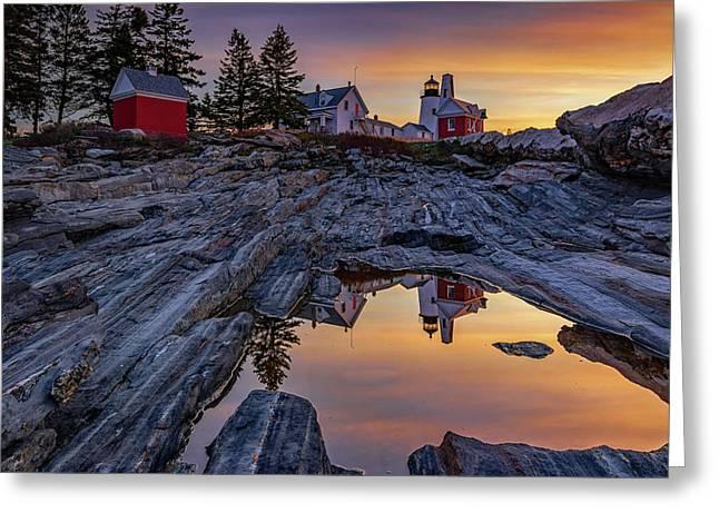 Sunrise At Pemaquid Point II Greeting Card