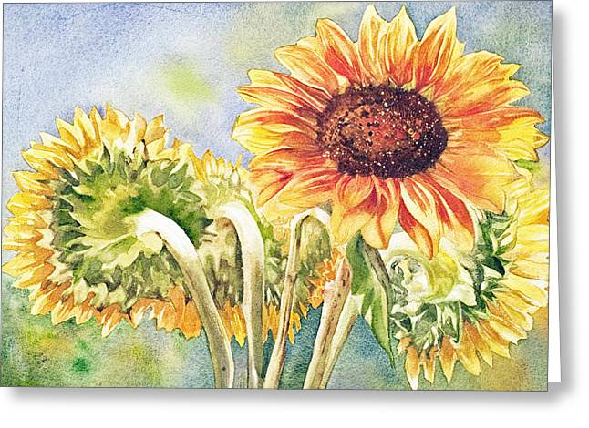 Suns All Around Greeting Card