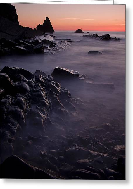 Sunset At Blegberry Beach Greeting Card