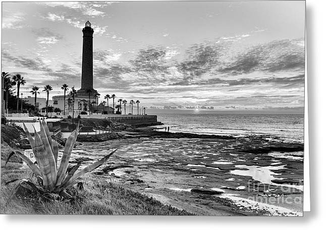 Greeting Card featuring the photograph Sunset At Chipiona Lighthouse Cadiz Spain by Pablo Avanzini