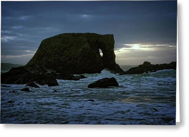 Sunset At Elephant Rock Greeting Card
