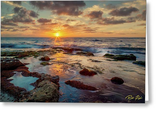 Greeting Card featuring the photograph Sunset At La Jolla  by Rikk Flohr