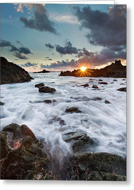 Sunset At Lombok Greeting Card