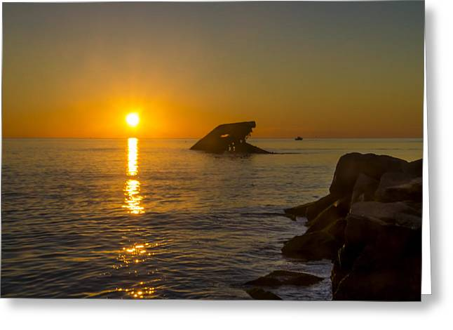Sunset Beach Greeting Card by Bill Cannon