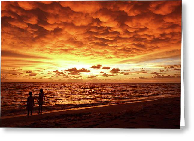 Greeting Card featuring the photograph Sunset Before The Storm by Melanie Moraga