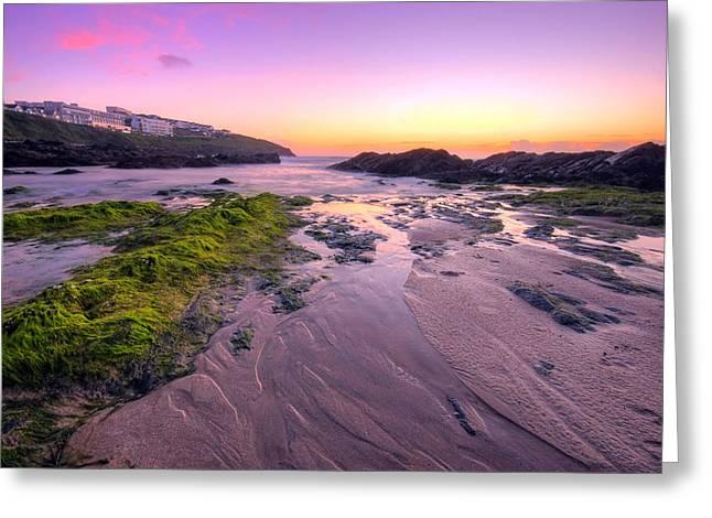 Sunset By The Ocean Greeting Card by Jaroslaw Grudzinski
