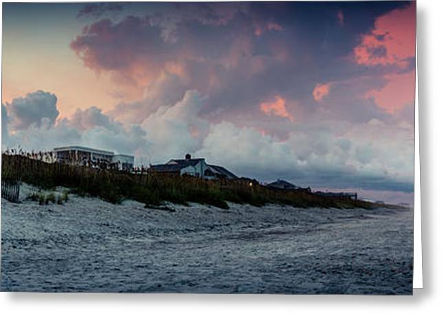 Sunset Emerald Isle Crystal Coast Greeting Card