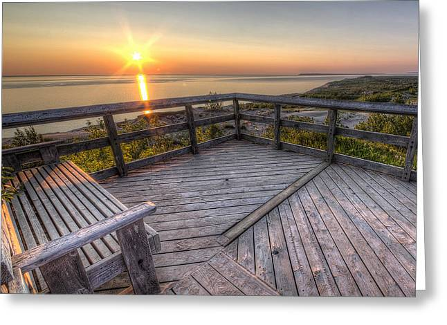 Sunset From The Deck Greeting Card by Twenty Two North Photography