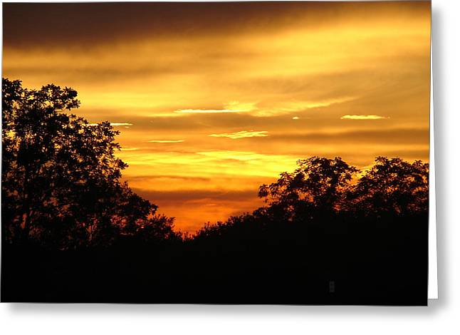 Greeting Card featuring the photograph Sunset by Heidi Poulin