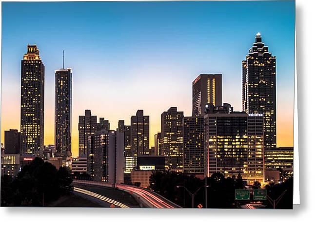 Sunset In Atlanta  Greeting Card