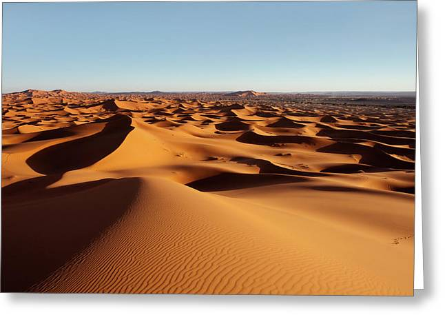 Sunset In Erg Chebbi Greeting Card