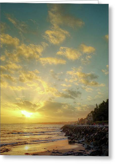 Sunset In The Coast Greeting Card
