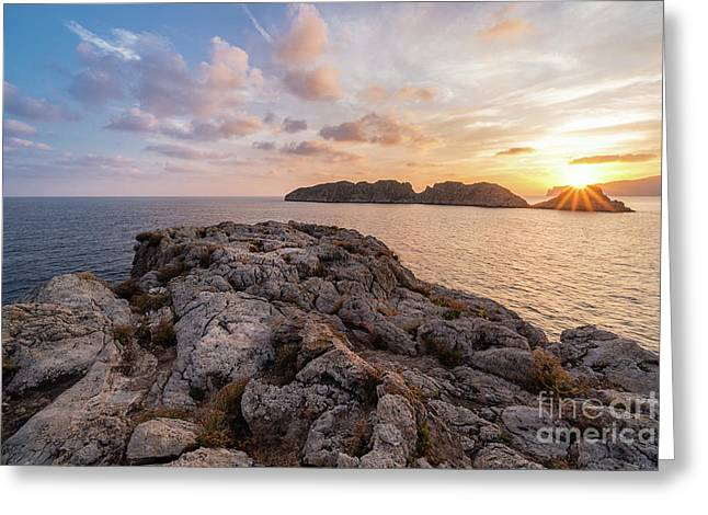 Sunset Malgrats Islands Greeting Card