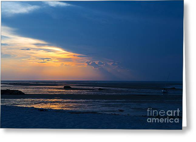 Sunset On Cape Cod Greeting Card by Diane Diederich