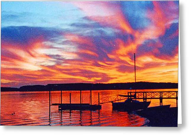 Sunset Over Lake Murray Greeting Card