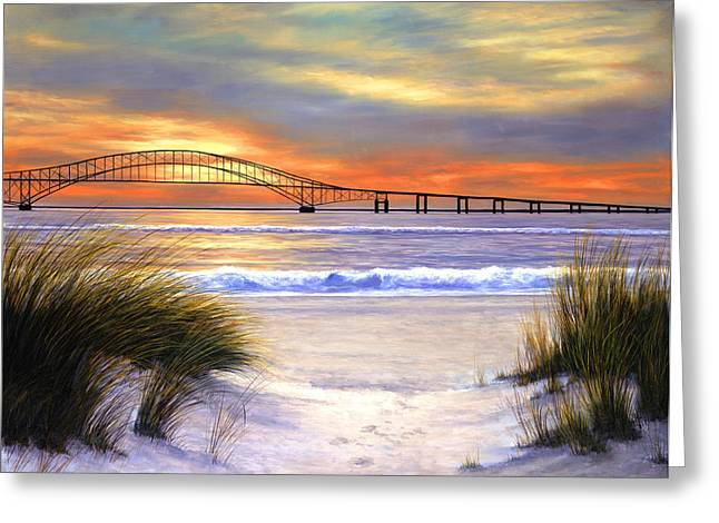 Sunset Over Robert Moses Greeting Card