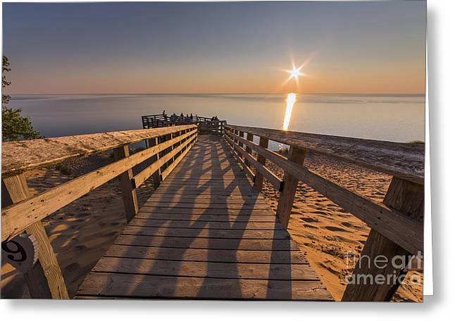 Sunset Shadows Greeting Card by Twenty Two North Photography